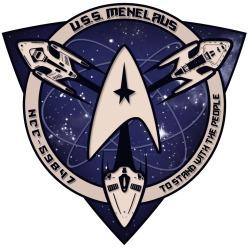 USS Menelaus logo white
